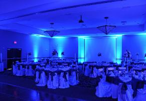blue blue wedding uplighting